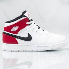 Shoes Women Kids Air Jordan 1 Mid Gs 554725 116 White