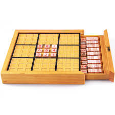 Wooden Sudoku Game Board BOHS Beech Wood Adult Desktop Game Memory Chess Sudoku Puzzle Game 76