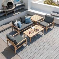 roble lounge 4 seater coffee set