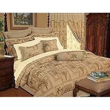 Tropical Bedding: Amazon.com & 9 Piece Queen Tapestry Palm Bedding Comforter Set Adamdwight.com