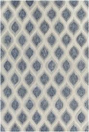 gray and white rug. Clara Collection Hand-Tufted Area Rug In Blue, Grey, \u0026 White Design By Gray And