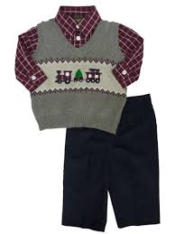 Dockers Infant Toddler Boys 3p Holiday Sweater Vest Shirt Corduroy Pants