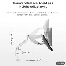 Mechanical Clamp Design Putorsen Premium Pc Monitor Arm Stand Desk Mount Bracket
