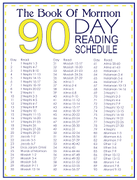 12 90 Day Book Of Mormon Chart The Mormon Home Book Of