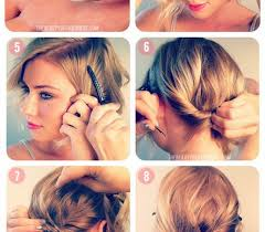 updos for short hair casual