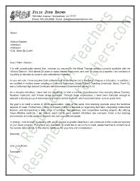 cover letters for teachers music teacher cover letter sample