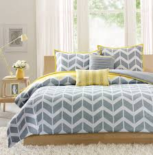 grey and yellow duvet covers