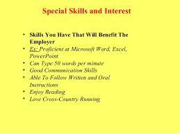 mini resume content