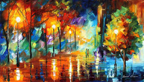 bright evening painting 65x40 in 2016 by leonid afremov art deco