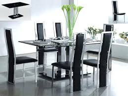 dining room magnificent modern glass sets inspiring pertaining to tables table extendable mo