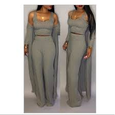 Lovelywholesale Size Chart Lovely Casual U Neck Two Piece Pants In Brown Nwt