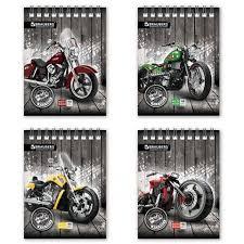 <b>Блокнот А6</b> 48л. кл. <b>Brauberg</b> Wild Bikes, обл. мел. картон ...