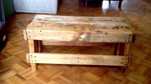 OLD PALLETS PROJECT, DIY, little BENCH / COFFEE TABLE / SIDE TABLE made  with RECYCLED PALLETS - YouTube