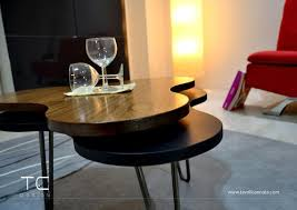 wooden modern coffee table low small