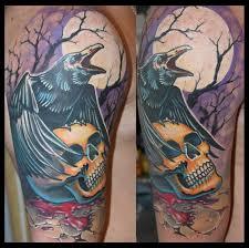 значение тату ворон фотографии татуировки ворон каталог тату