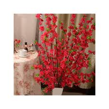 50''<b>Artificial Cherry</b> Spring Plum Peach Blossom Branch <b>Silk</b> Flower ...