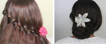 Hair Style Simple party hairstyles waterfall braid bun christmasthanksgiving 2884 by wearticles.com