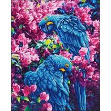 Blue <b>Parrots</b>, <b>Diamond</b> Dotz | <b>Painting</b> and <b>Art</b> Inspiration | <b>Diamond</b> ...
