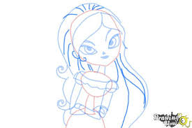 how to draw maria from the book of life step 7