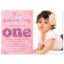 Invitation 1st Birthday Girl Invitation Cards