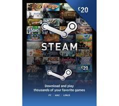steam wallet card 20