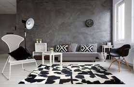black and white cowhide rug random natural pattern