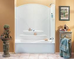Shower  Valuable Fiberglass Tub Shower Combo One Piece Riveting One Piece Fiberglass Tub Shower Combo
