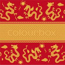 Dragon Pattern Cool Seamless Horizontal Pattern Of The Dragon Stock Vector Colourbox