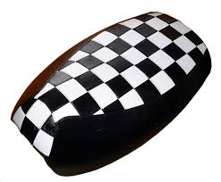 yamaha vino 125 scooter seat cover black white mod