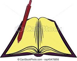 open textbook icon cartoon csp45478856