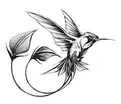 Tatouage Colibri Noir Et Blanc Recherche Google птицы колибри