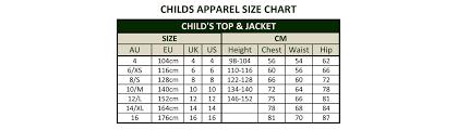 Australian Size Chart Size Charts Dublin Clothing Australia