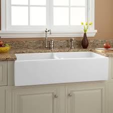 Apron Front Kitchen Sink White Natural Farmhouse Sink White Farmhouse Ideas