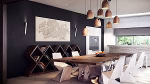 modern dining room chairs. Captivating Interior Design Of Rustic Dining Room With Brown Wooden Table Also White Chairs Modern