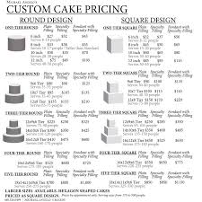 Cake Size And Price Chart Amazing Of Wedding Cakes With Prices And Pictures Fresh