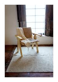 alternative image 1 large wool area rug in cream