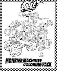 Small Picture Blaze And The Monster Machines Printable Coloring Pages Coloring