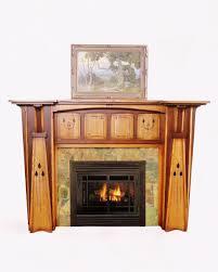 custom made arts crafts style fireplace mantel