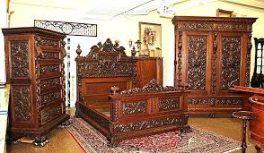 Antique White King Size Bedroom Sets Reproduction Furniture Bed Set ...
