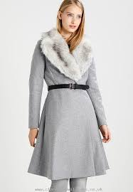 reliable performance women ted baker narnia winter coat grey 75 wool 20 poly amide 5 cashmere js0763