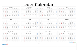 Clear design calendar with awesome fonts, which makes it easy to view and download. Printable 2021 Yearly Calendar 21ytw34 Printable Yearly Calendar Yearly Calendar Template Calendar With Week Numbers