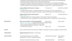 Architectural Resume Examples Architecture Resume Example Inside ...