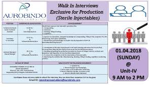 Aurobindo Pharma Ltd. Walk In Interview For Technical Assistant ...
