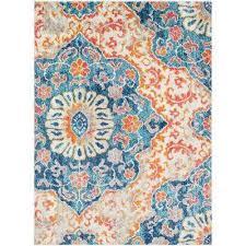 laurine orange 8 ft x 10 ft area rug