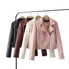 best fashion pink sky blue women leather jacket er motorcycle leather jackets women brand leather coat s xl jaqueta couro under 50 87 dhgate com