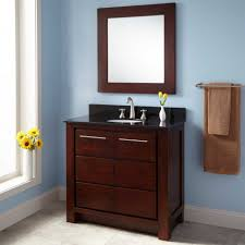 Blue Bathroom Vanity Cabinet Paint A Bath Vanity How To Refinish - Oak bathroom vanity cabinets