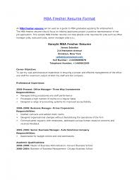 how to make resume for mba freshers equations solver mba finance resume sle best for freshers