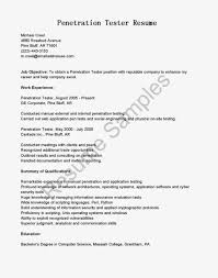 Mobile Application Testing Resume Sample Free Resume Example And