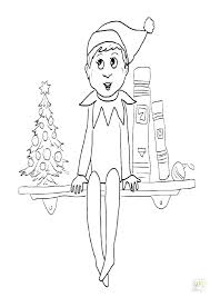 Elf On The Shelf Printable Coloring Page Christmas Elf Coloring
