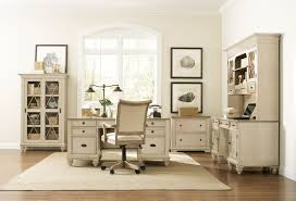 amaazing riverside home office executive desk with glass cabinets and cool cream swivel chairs on area home decor astonishing cool home office decorating